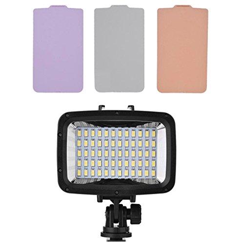 IPOTCH Lámpara de Relleno de Luz de Video Subacuática de 60 LED Regulable para Cámara