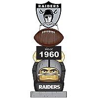 Team Sports America Oakland Raiders Vintage NFL Tiki Totem Statue