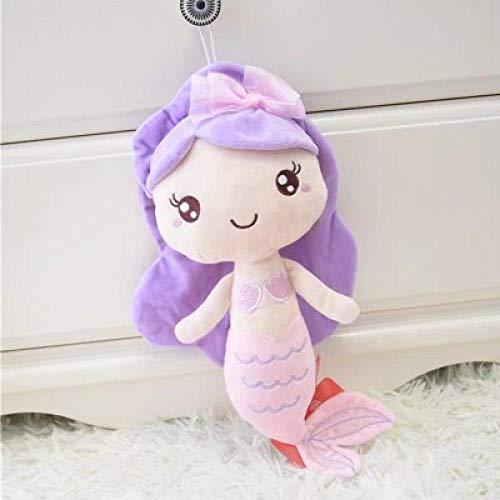 XWYWP Giocattoli Morbidi Carino Peluche Q Stile Mermaid morbido pesce bambola animale Animazione giocattoli per la Ragazza regalo regalo di compleanno cuscino Peluche Giocattoli 28 cm Viola
