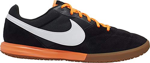 Nike Shoes, Zapatillas de fútbol Sala Unisex Adulto, Black White Total Orange, 44 EU