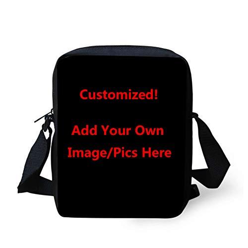 Coloranimal Custom Your Own Image/Picture Small Crossbody Bag Messenger Handbags for Women Girls Boys Travel Shoulder Purse