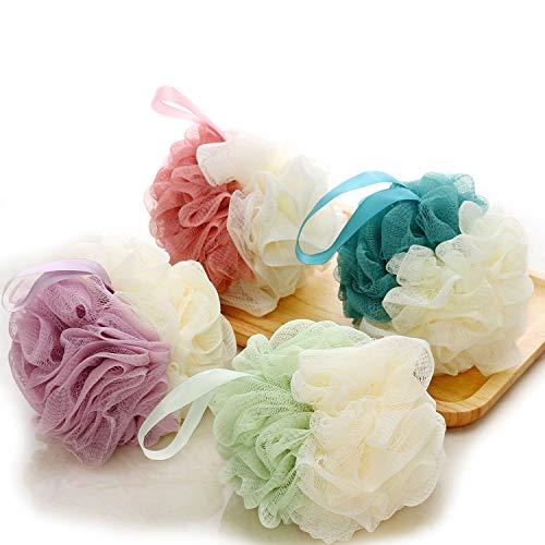 4 douche fleur couverture douche éponge bain éponge douche