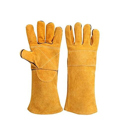 Gants de soudage résistants à la chaleur, ignifuges avec coutures en Kevlar pour cheminée, poêle, four, grill, soudure, barbecue, MIG et travaux de jardinage