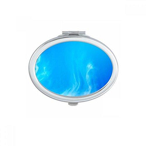 DIYthinker Big Moon Dark Night Sky Ovale Maquillage Compact Miroir de Poche Miroirs Mignon Petit Cadeau Portable à la Main Multicolor