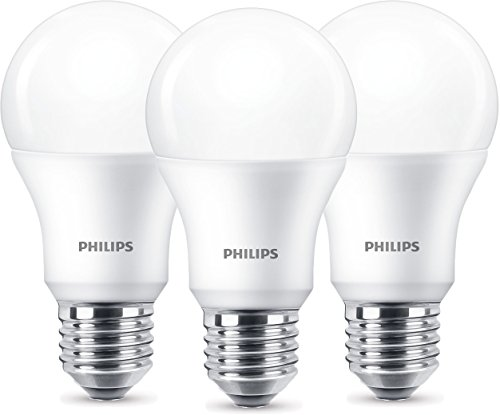 Bombilla Philips LED Rosca E27, Edison, Luz Blanca, Cristal Esmerilado, Plástico, 8.5 W