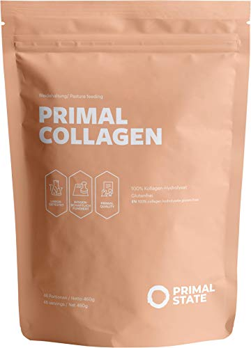Proteína de colágeno PRIMAL | Péptidos hidrolizados de colágeno | Proviene de ganado de pastoreo | Tipo I y Tipo II | Aprobado por laboratorios | Sin sabor - 460g