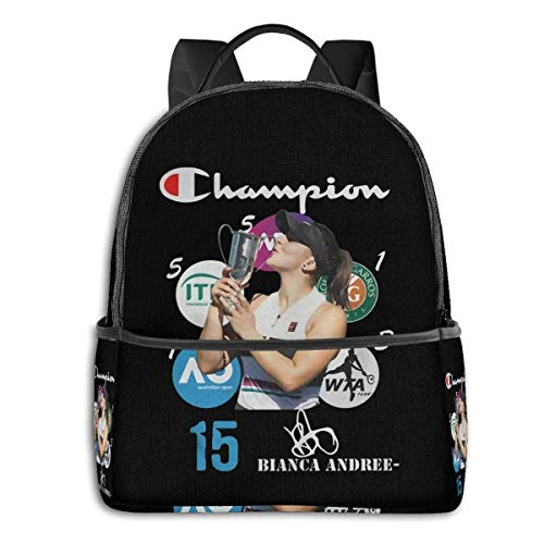 zhengdong Backpack Bianca Andreescu 15 s Signatures Laptop Backpack Fashion Theme School Backpack