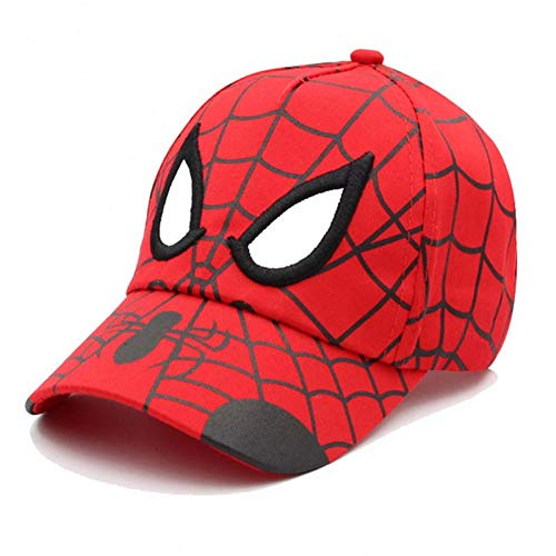 Sanjiayi Kinder Baseball Caps Stickerei Anime Spider Man Hut Kinder Cartoon Summer Mesh Baumwollkappe für Jungen Mädchen Hip Hop Hut Snapback Cap,5