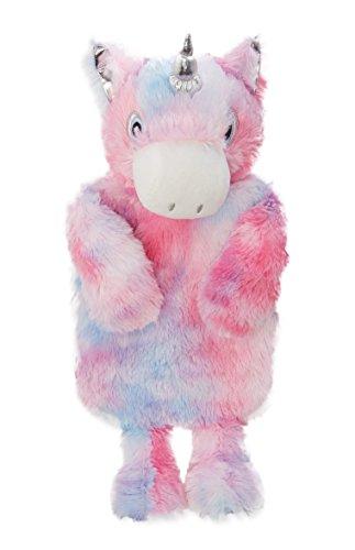 Funda para botella de agua caliente con botella, con forma de unicornio arcoíris con cuerno plateado, de Primark, vendido por PENTA06.