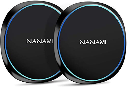 NANAMI Cargador Inalámbrico Rápido,[2-Pack] 7.5W Qi Wireless Charger para iPhone 12/11/XS Max/XR/X/8/8 Plus,10W Inalámbrica Carga Rápida para Samsung Galaxy S20/S10/S10 /S9/S8/S7/Note 10/9/8, AirPods