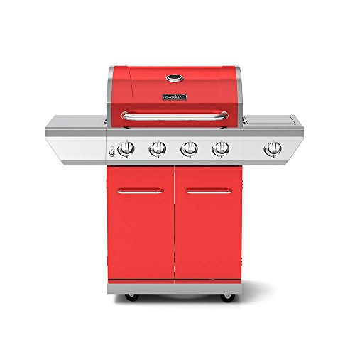 Nexgrill 720-0830HR 4-Burner Propane Gas Grill in Red with Side Burner Grills Propane