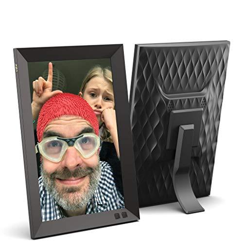 NIX Marco Digital Fotos y Videos 10 Pulgadas HD. Pantalla IPS (16:10). Calendario, Reloj.