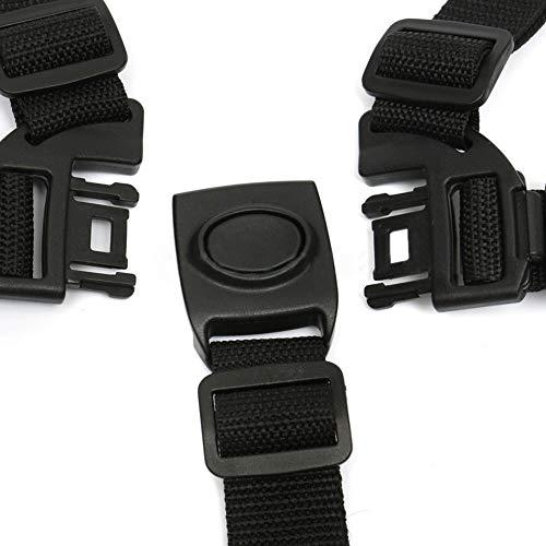 Bambino cintura a 5 punti di sicurezza della cinghia universale bambino cintura a 5 punti Cintura per passeggino seggiolone carrozzina Buggy capretto dei bambini Passeggino (nero)