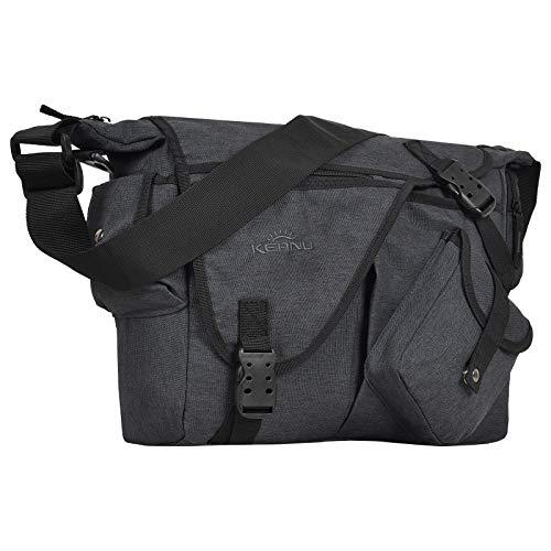 Premium Umhängetasche Laptop/Tablet Jack Bag Tasche KEANU Messenger DIN A4 :: viele Einschubfächer & RV Fächer :: Auswahl (Dark Grey)