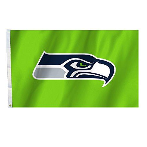 Fremont Die NFL Seattle Seahawks Seattle Seahawks Seahawks, 91 x 152 cm Fahne mit Ösen, Marineblau,
