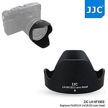 JJC ABSリバーシブルブラックカメラレンズフードfor Fujifilm FUJINON XF 18–55mm f2. 8–4R LM OIS & Fujinon XF 14mm f2. 8Rレンズas Fujifilm 14/18–55レンズフードon x-pro2X - pro1x-t2X - t1x-t20x-t10x-e2s