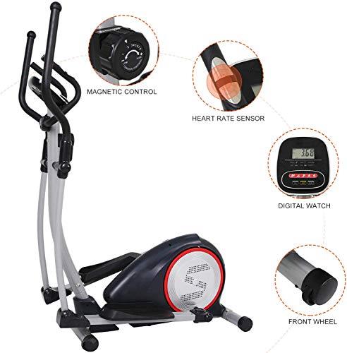 No bland - Bicicleta elíptica, ideal para entrenamiento funcional, 2 en 1, bicicleta estática