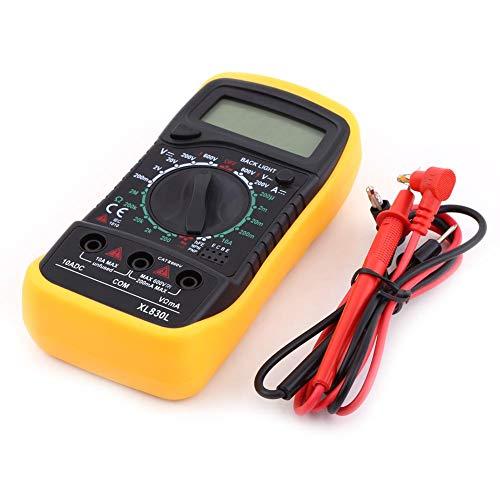 Voltmetro AC DC Multimetro Diodo Transistor Continuità udibile Strumenti di misurazione domestica Volt Ohm Meter Amperometro digitale Ohmmetro per elettricisti con LCD retroilluminato