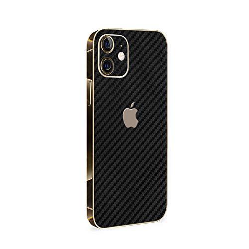 Normout iPhone 12 Folie Rückseite Carbon Black - 2X iPhone 12 Rückseite Folie, inklusive 2X iPhone 12 Kameraschutz Folie - iPhone 12 Skin Schützt vor Kratzern, Beschädigungen & Fingerabdrücken…