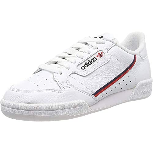 adidas Continental 80, Scarpe da Ginnastica Uomo, Bianco (Ftwbla/Escarl/Maruni 000), 46 EU