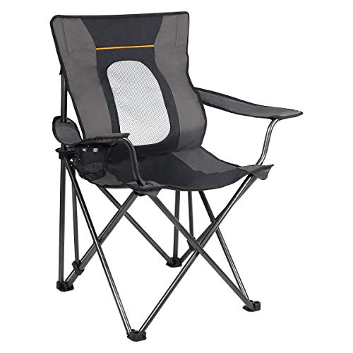 PORTAL Folding Camping Chair with Lumbar Back Support.