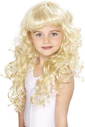 Prinzessin Kinderperücke Blonde Lockig, One Size