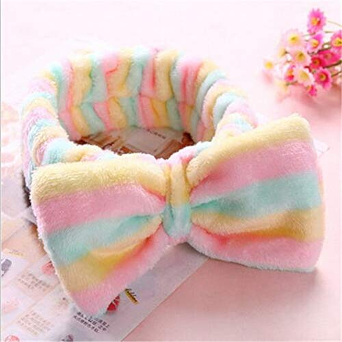 8 PcsBig Rabbit Ear Coral Fleece Head Band Soft Elastic Hair Ribbon SPA Bath Shower Make Up Wash Face Headband Hair Band Headwear 1