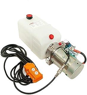 6 Quart Single Action Dump Trailer Pump (12VDC Hydraulic Power Unit, SAE #6 Ports, 3200 Max PSI, 280 Amps, 2.0 GPM)
