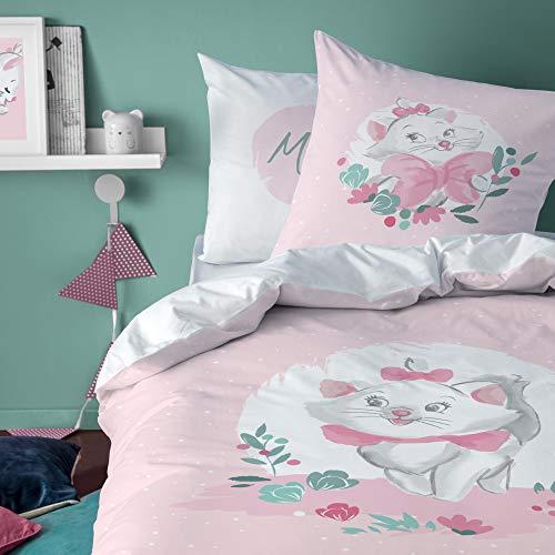 Disney - Juego de cama infantil con funda nórdica de 140 x 200 cm y funda de almohada de 63 x 63 cm, 100% algodón