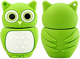 16GB Pendrive Cartoon Green Owl Animal USB Flash Drive Memory Thumb Stick