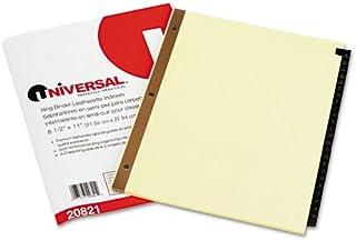 Universel–Aspect cuir Mylar Tab Intercalaires, 25lettres de l'alphabet onglets, Lettre, Noir/doré, Lot de 25–Lot de 50