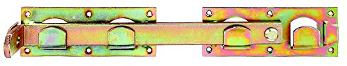 GAH-Alberts 210625 Doppeltorüberwurf, links und rechts verwendbar, galvanisch gelb verzinkt, 423 x 70 mm