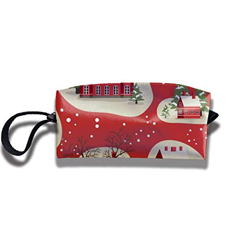 Bbhappiness Pouch Handbag Cosmetics Bag Case Purse Travel & Home Portable Make-up Receive Bag Christmas New Year Pattern