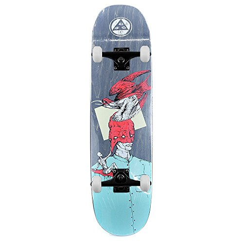 Welcome Skateboards sentire nulla skateboard completo luna trimmer Teal rosso 21,6 cm