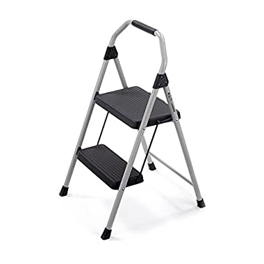 Gorilla Ladders 2-Step Compact Steel Step Stool with 225 lb. Load Capacity Type II Duty Rating
