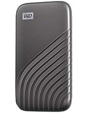 ウエスタンデジタル WD ポータブルSSD 1TB グレー 【PS5 メーカー動作確認済】 USB3.2 Gen2 My Passport SSD 最大読取り1050 MB/秒 外付けSSD /5年保証 WDBAGF0010BGY-WESN