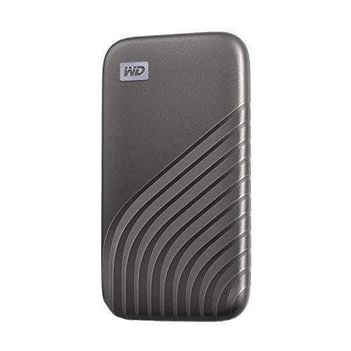 ウエスタンデジタル WD ポータブルSSD 2TB グレー 【PS5 メーカー動作確認済】 USB3.2 Gen2 My Passport SSD 最大読取り1050 MB/秒 外付けSSD /5年保証 WDBAGF0020BGY-WESN