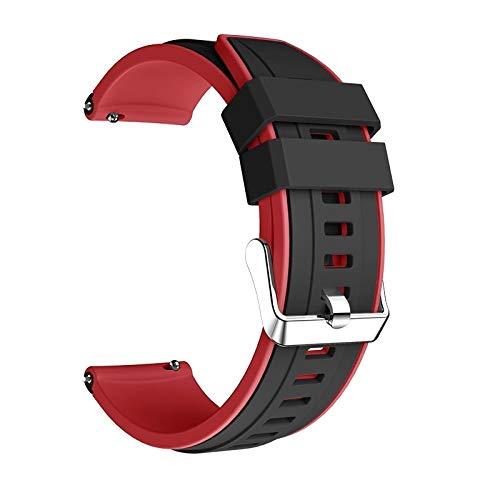 LIANYG Correa De Reloj para Galaxy Watch 3 45mm Strap Double Color Wamkands Sport Brazalet 22mm Watch Band para Galaxy Watch 46mm (Band Color : Black Red, Band Width : For Gear S3)