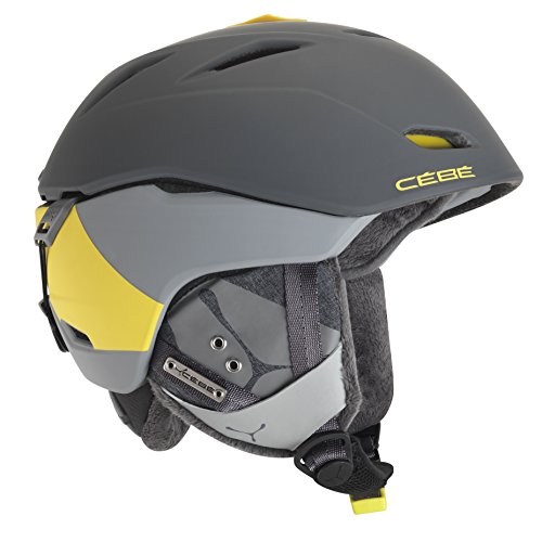 Cébé Unisex Erwachsene Skihelm Atmosphere DLX, Grey/Yellow, 52-55 cm
