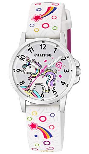 Calypso K5776/4 K5776 - Reloj de pulsera analógico para niños, color blanco, correa de plástico, mecanismo de cuarzo, M2035