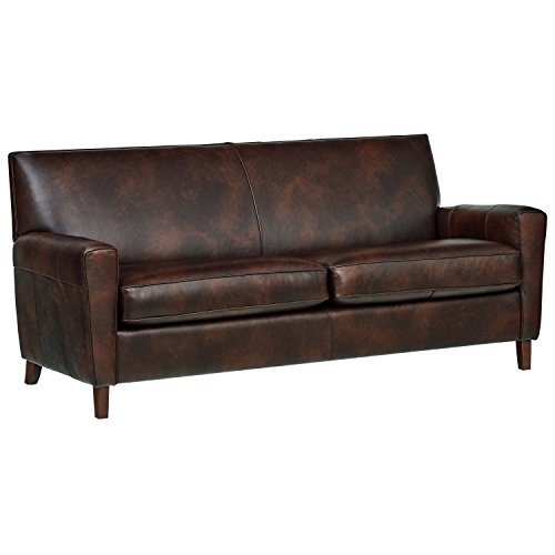 Rivet Lawson Modern Angled Leather Sofa
