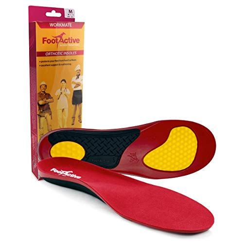 Orthotic WorkMate Insole by FootActive | Full-Length Arch-Support Orthotic insole designed by podiatrists for people who spend all day on their feet |Supports Arch and Cushions Heel - XL - 11/13 UK