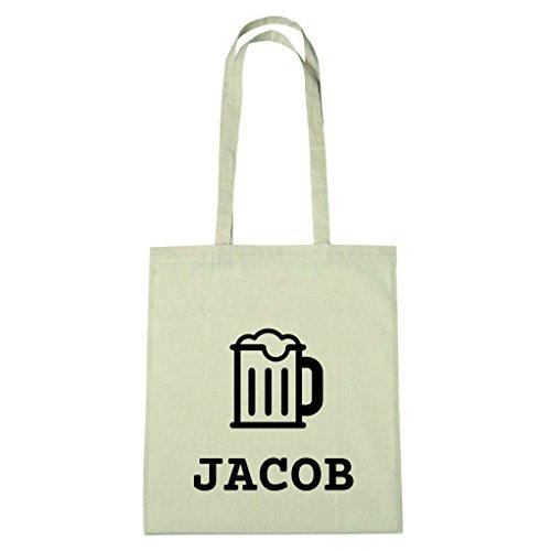 JOllify Baumwolltasche - Happy Birthday für JACOB - Bier Gruß