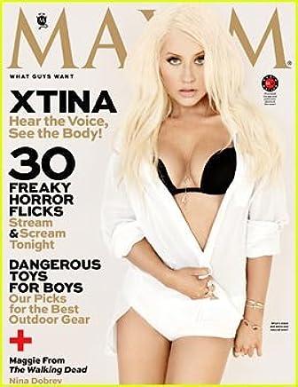 Maxim Magazine - Christina Aguilera on Cover - Nina Dobrev - Maggie From the Walking Dead (October, 2013)