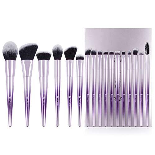 DUcare Make Up Pinsel Set 17-teilig professionelle Pinsel für Gesicht, Lidschatten, Eyeliner, Foundation, Rouge und für die Lippen