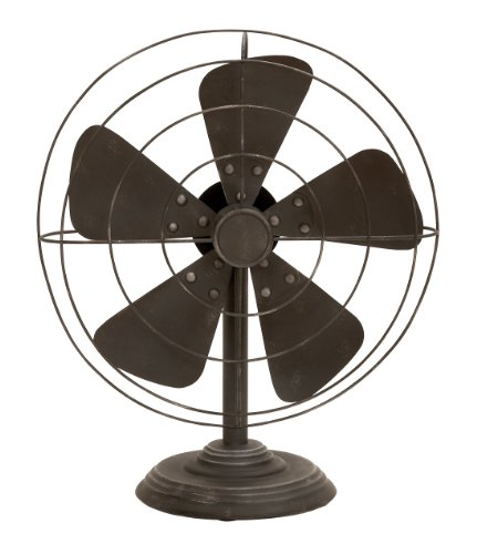 Deco 79 Decorative Vintage-Style Fan(Decor only)