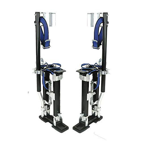 SUPERFASTRACING 15-23 Inch Drywall Stilts Aluminum Tool Adjustable for Painters Walking Painting Taping Black