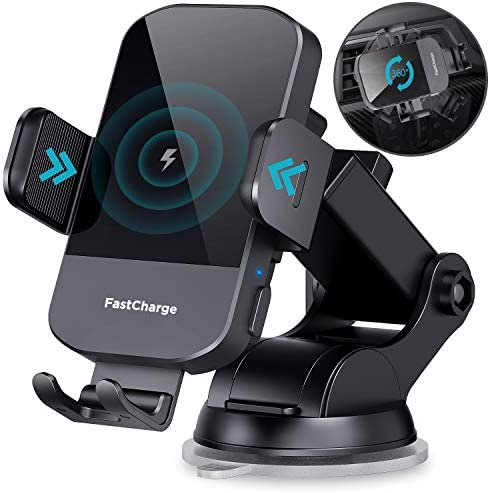 Wireless Car Charger CHGeek 15W Qi Fast Charging Auto Clamping Car Charger Phone Mount Windshield product image