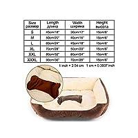 小中大犬マットベンチラウンジチェア猫チワワの子犬のベッド犬小屋猫ペットハウス用品、ブラウンYx0001、Mとしての写真のためにペットの犬のベッドソファビッグドッグベッド