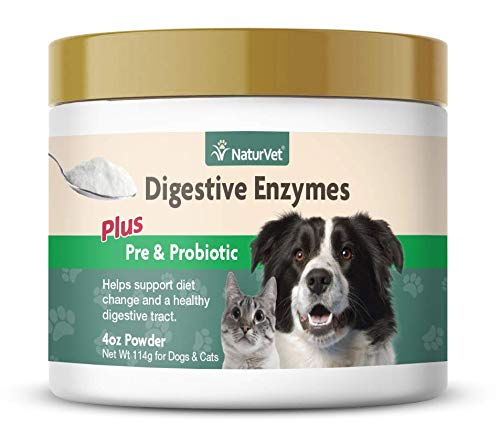 NaturVet Digestive Enzymes Plus Probiotics Supplement
